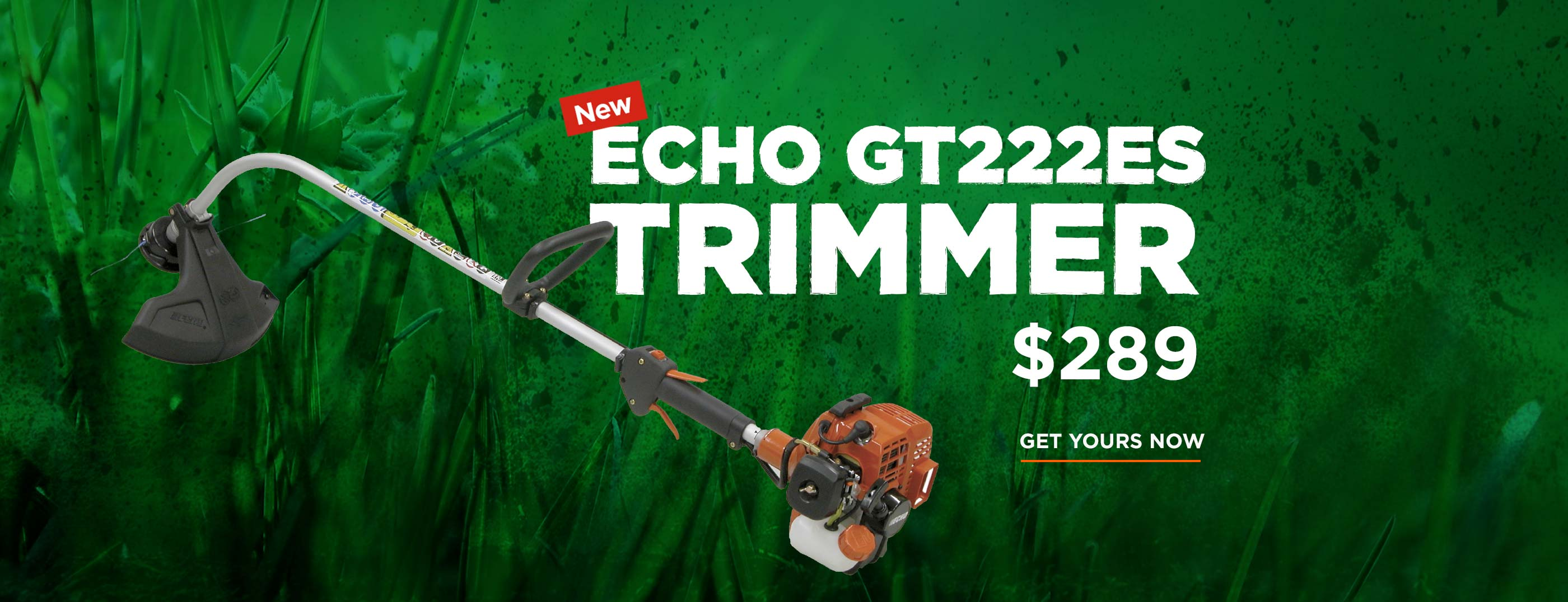 Echo GT222ES Trimmer on sale, only $289!