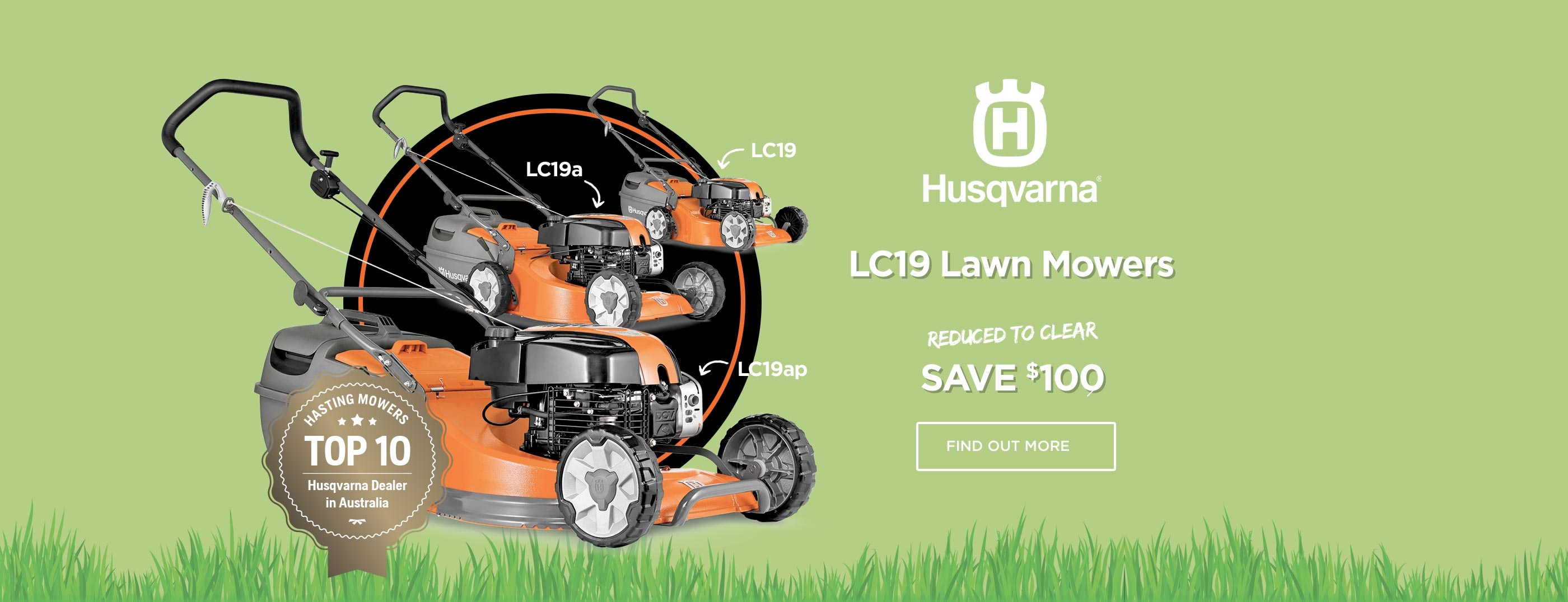 Save $100 on LC19 models!