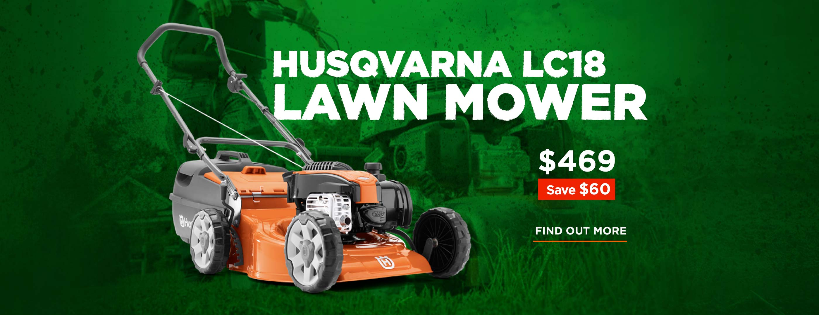 Husqvarna LC18 Lawn Mower Save $60, now $469!