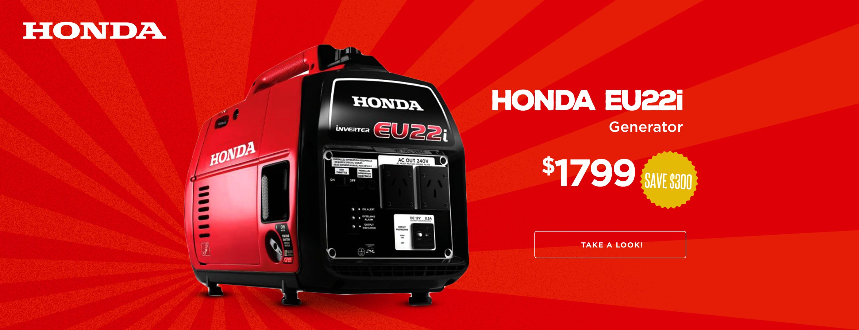 NEW Honda Eu22i Save $300