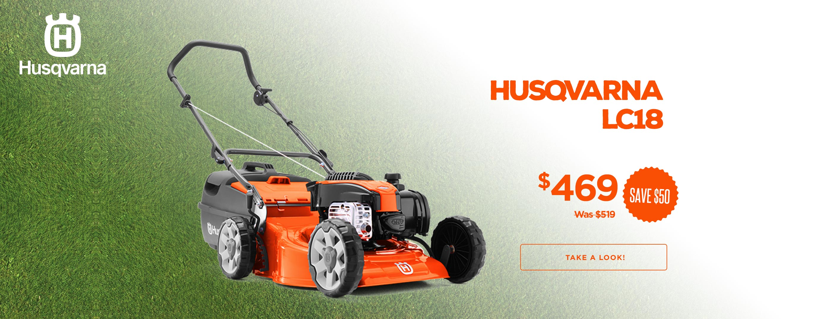 Husqvarna LC18 Lawn Mower Now $469