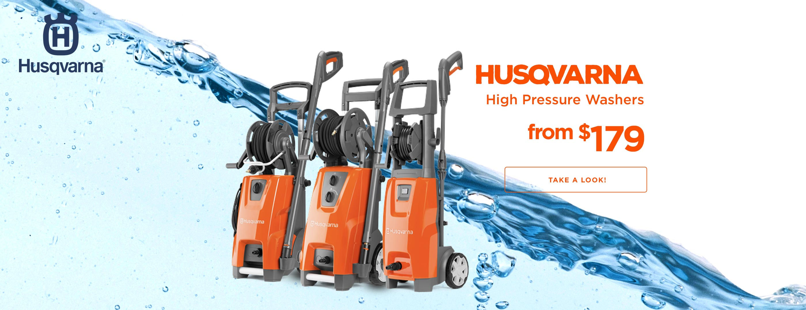 NEW Husqvarna Pressure Washers from $179