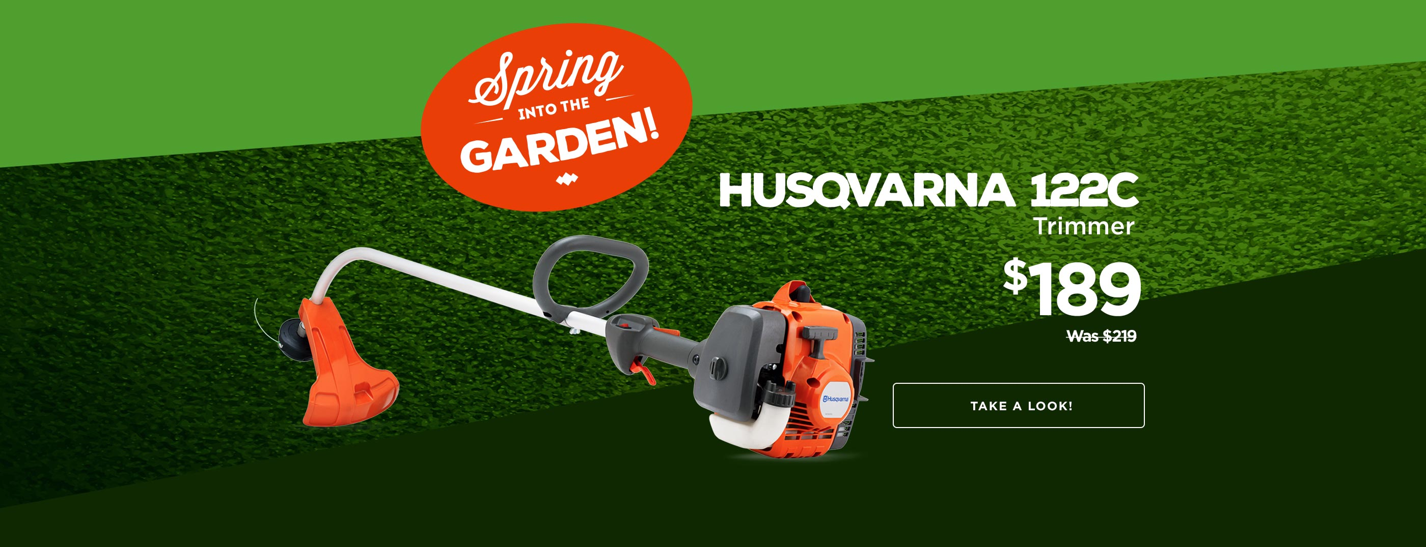 Save $30 on Husqvarna 122C during our Spring Sale!