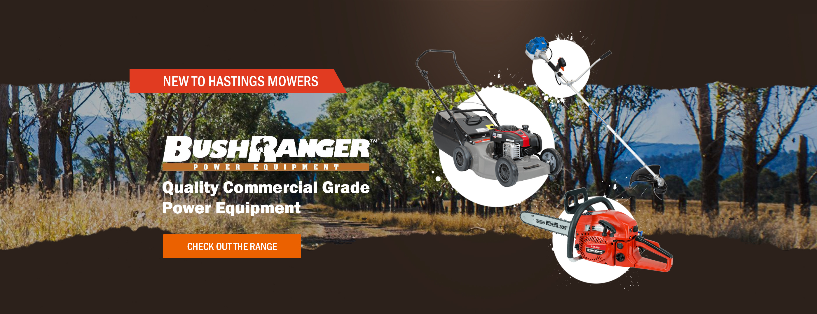 Bushranger NEW to Hastings Mowers!